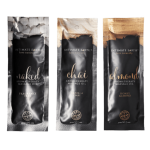 intimate earth massage oil sachet 3pack chill