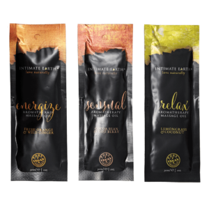 intimate earth massage oil sachet 3pack feels