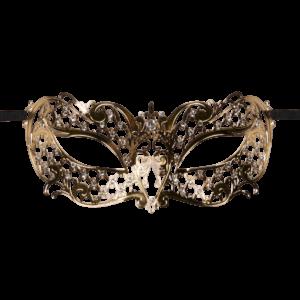 mask lace gold